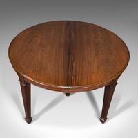 Antique Colonial Campaign Table, Indian, Rosewood, Dining, Extending, Victorian (7 of 12)