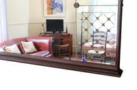 Italian Mahogany Chateau Overmantle or Wall Mirror c.1950 (4 of 9)