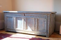 18th Century Painted Pine Coffer (2 of 28)