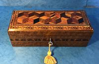 Victorian Burr Holly Glove Box with Tunbridge Ware Inlay (6 of 9)