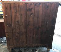 Arts And Crafts Glasgow Style antique 2 over 3 Chest of Drawers in Blond Oak (7 of 8)