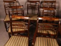 Rare Set of 10 Regency Period Mahogany Dining Chairs (2 of 17)