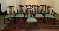 Set of 10 Mahogany Dining Chairs (5 of 8)