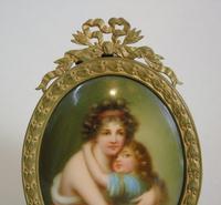 Antique Porcelain Portrait Miniature Madame le Brun (5 of 5)