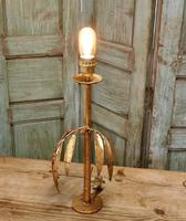 French Art Deco Gold Palm Leaf Table Lamp (4 of 6)