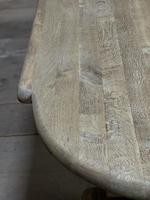 Huge French Bleached Oak Monastery Dining Table (11 of 30)
