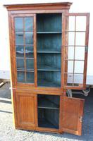 1850's Satin Walnut Corner Cupboard on Stand with Glazed Top (3 of 4)