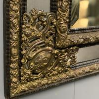 Large 19th Century French Repousse Mirror (3 of 7)