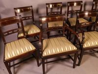 Good Set of 8 Regency Period Dining Chairs in Mahogany (2 of 13)