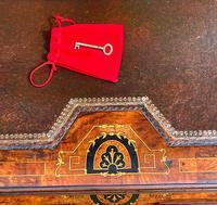 Antique Victorian Inlaid Burr Walnut Davenport Writing Desk (11 of 12)