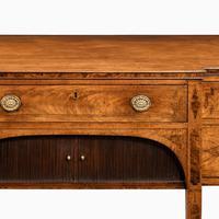George III breakfront yew-wood inlaid mahogany sideboard (3 of 10)