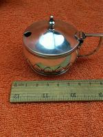 Antique Sterling Silver Hallmarked Heavy Mustard Pot 1924, Oldfield Ltd, Birmingham (5 of 10)