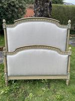 Large French Single Bed in Original Paintwork