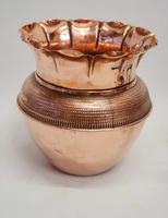 Art Nouveau  Wrought Iron and Copper Planter, Jardinière (7 of 16)