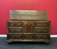 Beautiful 18th Century Georgian Period English Country Oak Mule Chest Sideboard Cabinet (5 of 19)