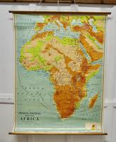 """Large University Chart """"Africa Physical Political""""  by Bacon (8 of 8)"""
