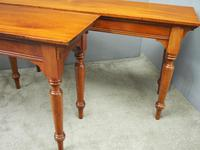 Pair of Large Victorian Mahogany Side Tables (5 of 9)