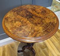 Victorian Inlaid Wine Table in Burr Walnut & Solid Walnut (2 of 5)