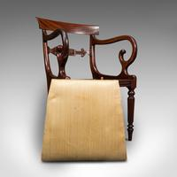Antique Elbow Chair, English, Mahogany, Carver, Drop-in Seat, Regency c.1820 (12 of 12)