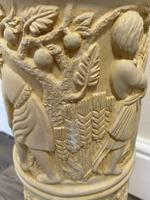 Dutch Golden Age Style Gilt Harvest Relief Plinth Display Torcheres (80 of 87)