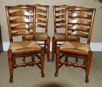 Set of Six (4+2) Ladderback Dining Chairs (3 of 4)