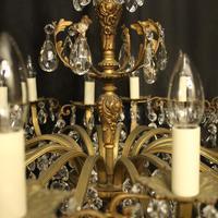 Italian Gilded Bronze 16 Light Antique Chandelier (3 of 10)