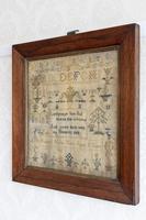 Mid 19th Century Needlework Sampler Dated 1853 (3 of 3)