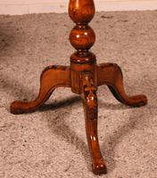Small Pedestal Table / Games Table in Walnut - 19th Century (6 of 6)