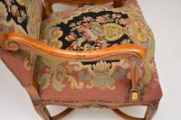 Pair of Antique Carolean Style Needlepoint Armchairs (6 of 12)