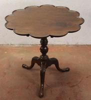 1850's Elegant Shaped Mahogany Tripod Side Table on Cab Legs