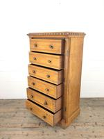 Large Victorian Oak Wellington Chest of Drawers by Shoolbred (10 of 13)