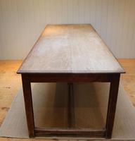 Large Light Mahogany School Refectory Table (5 of 9)