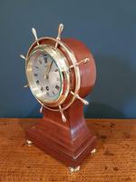 Antique Mahogany Ship's Wheel 8 Day Mantel Clock (4 of 5)