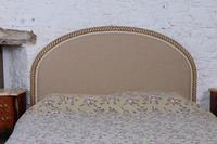 French Newly Upholstered Bow End King Size Bed (2 of 8)