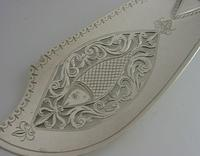 Rare Double Crest Wildman Tracy Families Solid Sterling Silver Fish Slice 1833 (3 of 10)