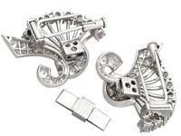 4.16ct Diamond & Platinum Double Clip Brooch - Art Deco c.1930 (7 of 12)