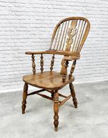 Antique Broadarm Windsor Armchair in Ash & Elm (2 of 7)