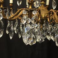 Italian Gilded 15 Light Antique Chandelier (5 of 10)