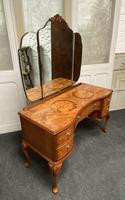 Stylish Burr Walnut Queen Anne Dressing Table (8 of 14)