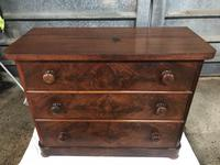 Victorian Flame Mahogany Chest of Drawers (3 of 4)