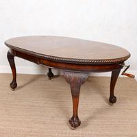Oak Dining Table & 6 Chairs Telescopic 19th Century (12 of 19)