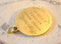 Pocket Watch Chain Ingersoll Mickey Mouse Fob 1930s Original Brass Fob (4 of 8)