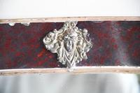 Antique Red Glass Overmantle Mirror (2 of 12)