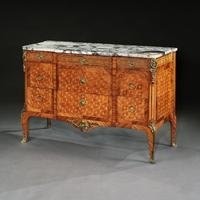Late 19th Century French Gilt Bronze Mounted Tulipwood & Kingwood Marble Topped Commode (10 of 10)