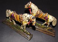 Pair of Victorian Cast Iron Horse Ornaments (4 of 6)