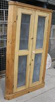 1900's Country Antique Pine Corner Cupboard with Mesh on Doors (3 of 4)