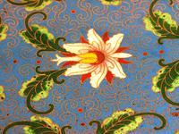 Fine Japanese Blue Cloisonné Orchid Plate (4 of 4)