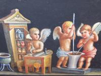 Watercolour Mischievous Putti Listed Artist E P Fenderico (4 of 14)