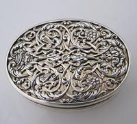 Impressive Victorian silver table snuff box Henry William Dee London 1877 (10 of 13)