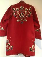 Very Unusual Vintage Felt Coat  Decorated with Embroidery Possibly Turkish or Greek (6 of 7)